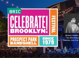 BRIC presents Brittany Howard, frontwoman and guitarist for the chart-topping, GRAMMY Award-winning band Alabama Shakes, to open the 42nd annual BRIC Celebrate Brooklyn! Festival with a free concert on June 9 at the Prospect Park Bandshell.