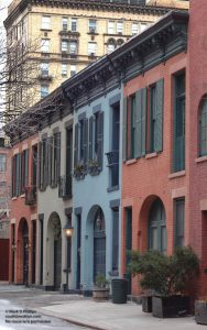 College Place carriage houses hidden off of Love Lane in Brooklyn Heights. ©Mark D Phillips