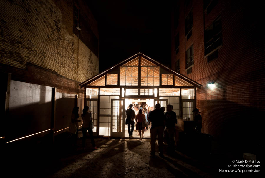 ART IN A FACTORY<br><br>The Glass House Gallery at the Invisible Dog in Boerum Hill, Brooklyn. The former belt factory manufactured the famous Walt Disney invisible dog party trick, after which the center is named. ©Mark D Phillips