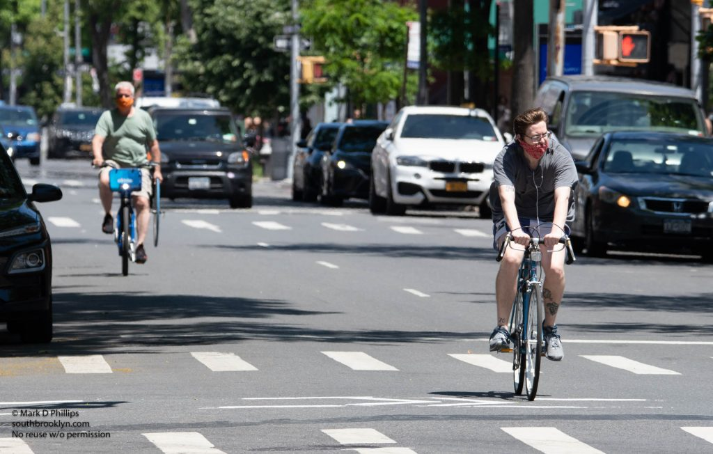 New York City on May 30, 2020, during the Covid-19 pandemic, empty streets biking
