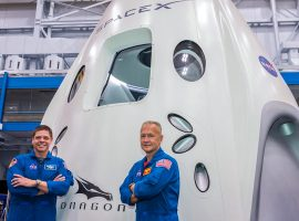NASA astronauts Robert Behnken and Douglas Hurley will fly on SpaceX's Crew Dragon spacecraft, lifting off on a Falcon 9 rocket at 4:33 p.m. EDT May 27, from Launch Complex 39A in Florida