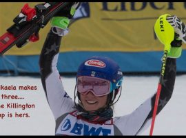 Mikaela Shiffrin wins her third straight Killington Cup in slalom. ©Mark D Phillips