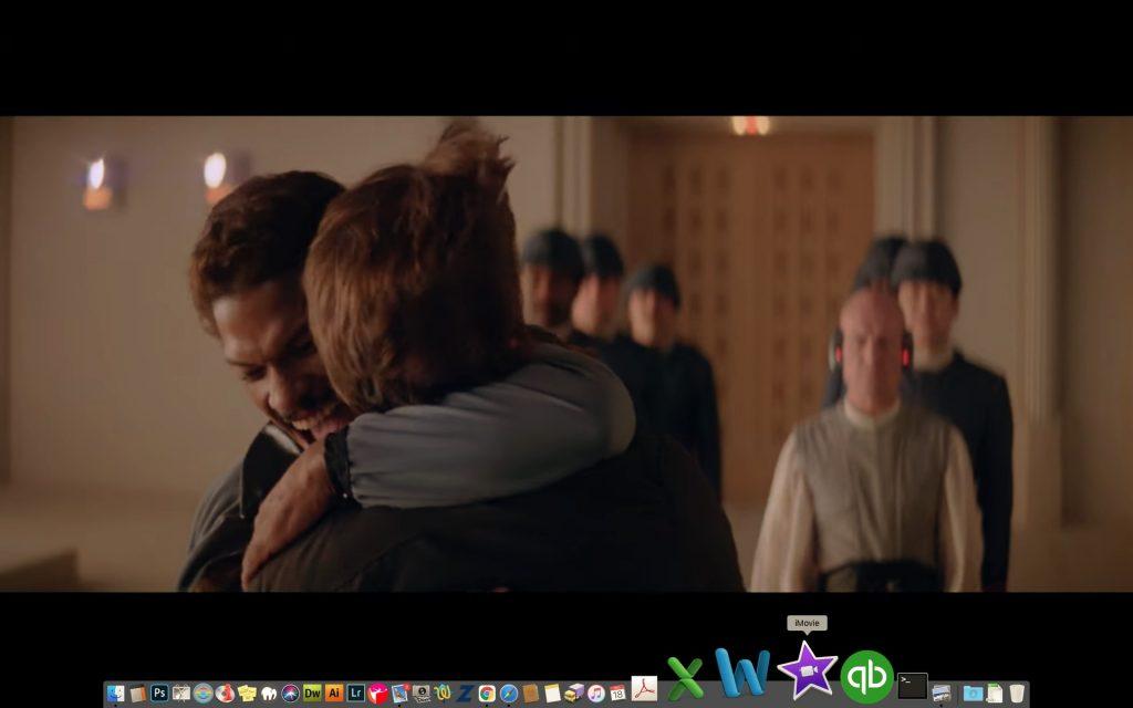 Billie Dee Williams as Lando Calrissian on set of The Empire Strikes Back. Screenshot: Lucasfilms
