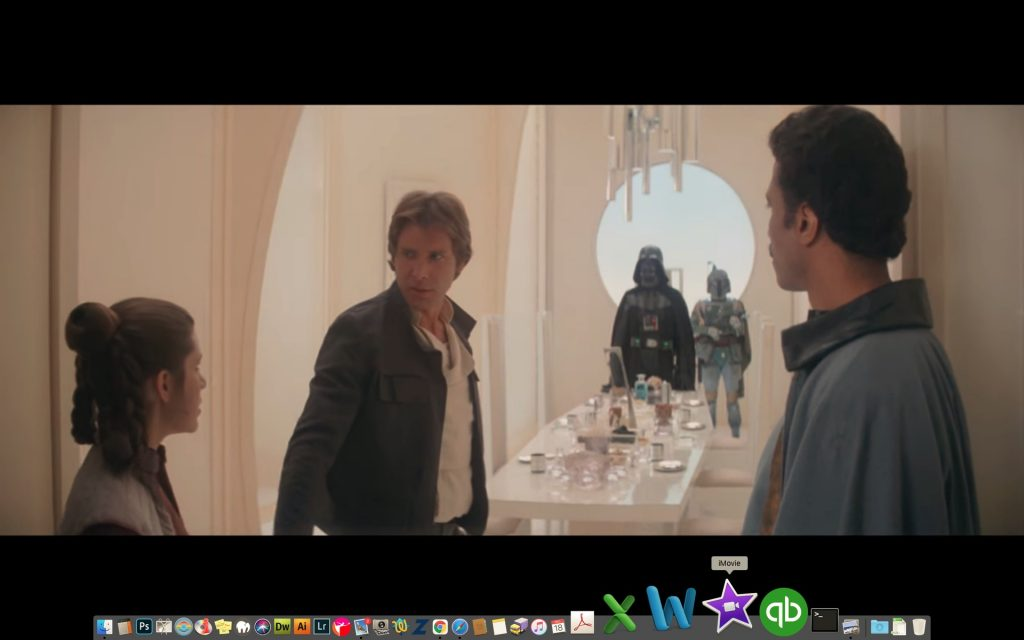 Jeremy Bulloch, who played Boba Fett, on set of The Empire Strikes Back with Vader, Solo and Lando. Screenshot: Lucasfilms