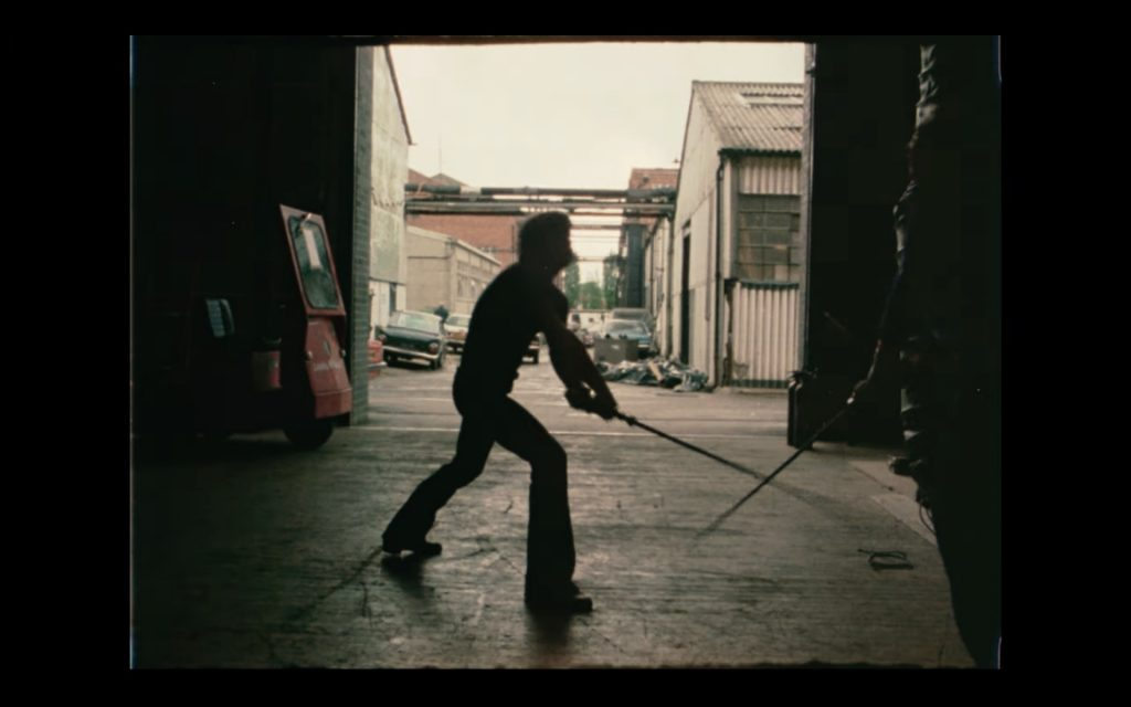 Mark Hamill practices lightsaber duel for The Empire Strikes Back. Screenshot: Lucasfilms