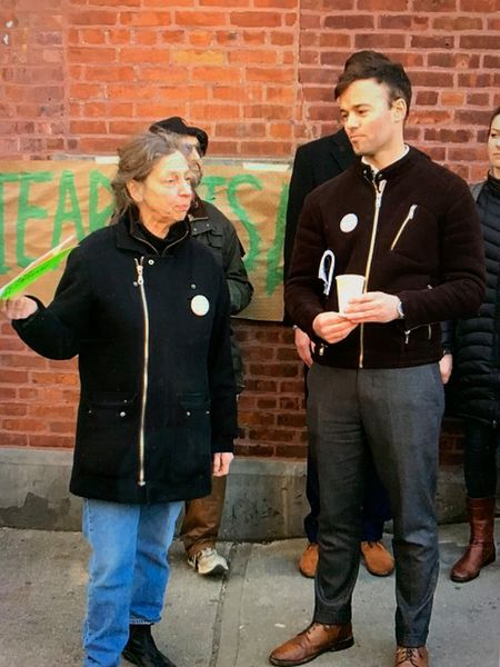 Linda Mariano and Brad Vogel at the Gowanus Canal