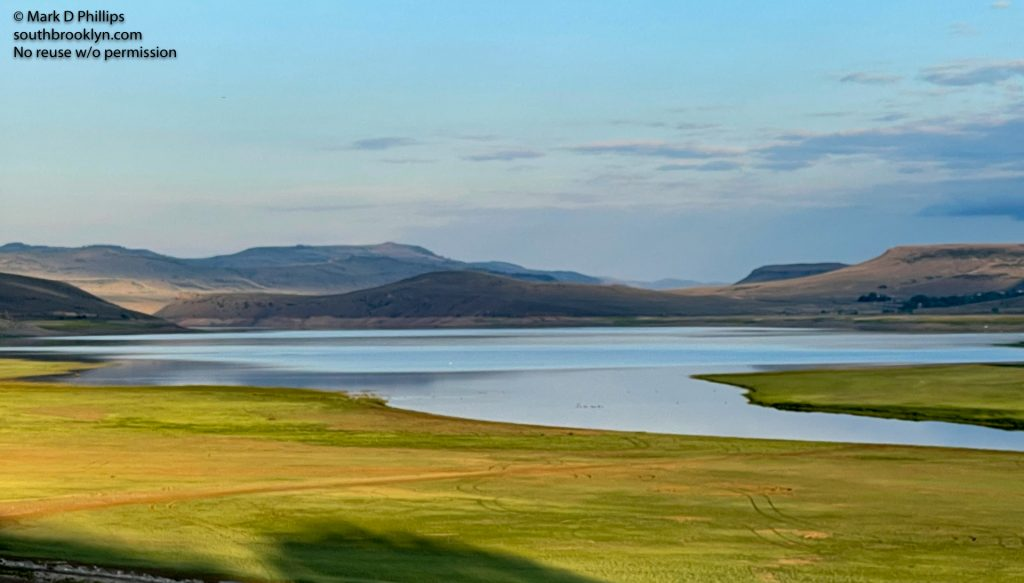 Colorado June 23, 2021: Blue Mesa Reservoir at 50% capacity, the lack of snow over the winter caused a shortage of water. ©Mark D Phillips